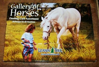 Leanin' Tree Gallery of Horses Greeting Card Assortment Missing One Card