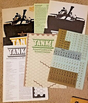 SPI Strategy & Tactics #44 Tank: Army Combat In The 20th Century 1974 Unpunched