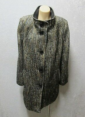 size 18 BE ME Black brown white THICK WARM wool blend JACKET COAT BLAZER womens
