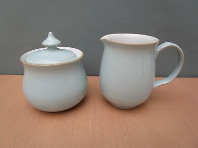 "Vintage Denby ""colonial Blue"" Milk Jug And Sugar Bowl"
