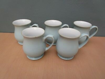 "5 Vintage Denby ""colonial Blue"" Mugs"