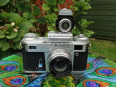 Kiev 35mm rangefinder camera with Jupiter 8M 50mm f2 lens - Contax Copy
