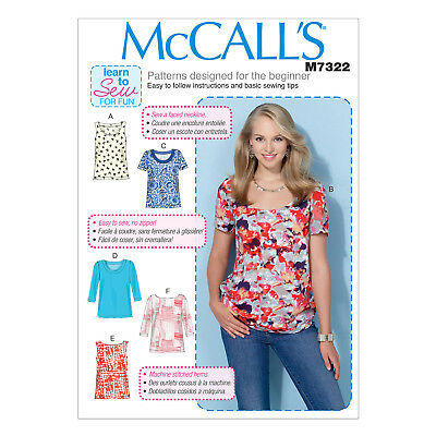MCCALL\'S 7322 EASY Sewing Pattern to MAKE Pullover Tops - Learn to ...