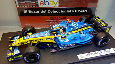 1:18 MODIFIED Renault F1 R26 Fernando Alonso  2006 World Champion + M7-HW-3L 050