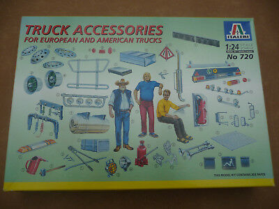 1:24 Italeri Truck Accessories (Europe & USA),180 Parts & Large Decal Sheet LQQK