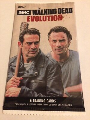 "L@@k Amc The Walking Dead  "" Evolution "" 2017 Factory Sealed Packet"