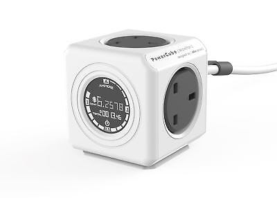 Allocacoc PowerCube Extended Monitor 1.5m Plug Extension Strip 4 Way Socket