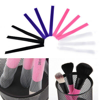 30x Cosmetic Make Up Brush Pen Netting Cover Mesh Sheath Protectors Guards FG