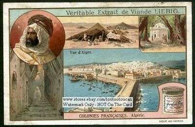 Algeria As A French France  Colony Africa Algiers c1909 Trade Ad Card