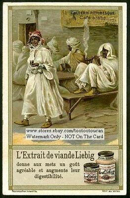 North Africa Algeria Arab Cafe Pipe c1910 Trade Ad Card