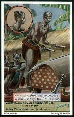Native African Tribes Of The Belgian Congo - Set of 6 c60 Y/O Trade Ad Cards