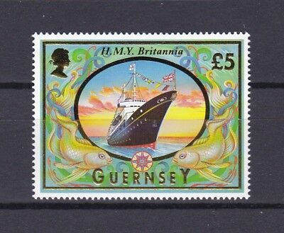 Guernsey 1998 £5.00 Ships Definative Below Face Value (6) Mint Never Hinged
