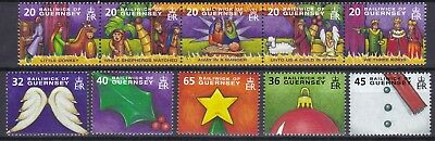 Guernsey 2004 Christmas Below Face Value (8) Mint Never Hinged