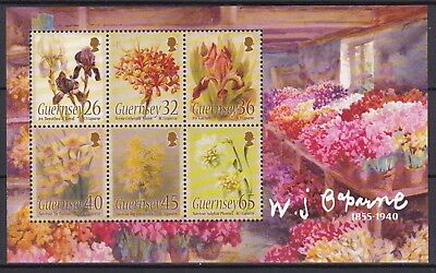 Guernsey 2005 Flower Paintings Below Face Value (12) Mint Never Hinged