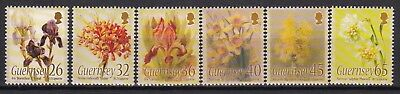 Guernsey 2005 Flower Paintings Set Below Face Value (13) Mint Never Hinged