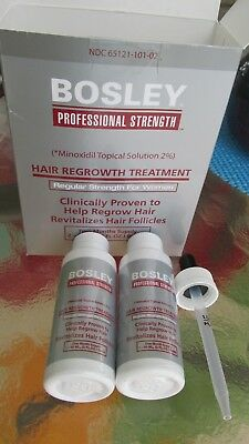 Bosley Hair Regrowth Treatment for women. Minoxidil Solution. contains 2-2oz pks