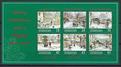 Guernsey 2000 Christmas S/s Below Face Value (16) Mint Never Hinged