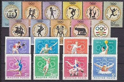 Hungary 2 X Olympic Sets (21) Mint Never Hinged