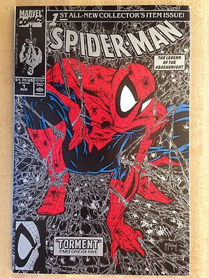 SPIDER-MAN #1 NM 1990 Silver Collector's Item Issue Todd McFarlane Spiderman!!!