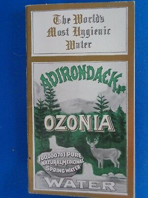 1905 Adirondack Ozonia Natural Spring Water Cancer Cure Booklet Potsdam NY