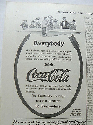 """1909,nov. Human Life Magazine """"everybody"""" Arrow - To & From People At Foumtain"""