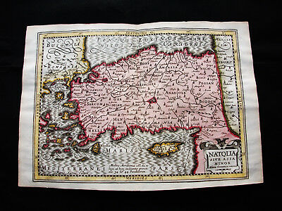 1676 VAN DER KEERE - orig. map: Turkey, Cyprus, Middle East, Black Sea, Ankara
