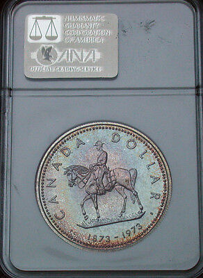 1973 Canada NGC PF65 Gem Colorful Toned Proof Dollar (mb1536)