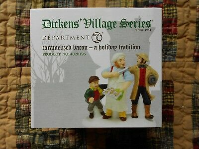 DEPT 56 DICKENS' VILLAGE Accessory CARAMELIZED BACON A HOLIDAY TRADITION NIB