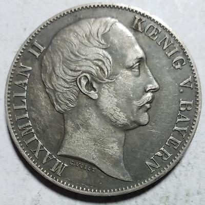 Bavaria, Germany, Thaler, 1857, Toned Very Fine+, .5359 Ounce Silver