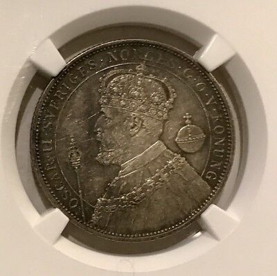 1897 EB Sweden 2K Silver Jubilee/ NGC-AU55/ Coin #103508139