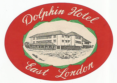 HOTEL DOLPHIN luggage label (EAST LONDON)