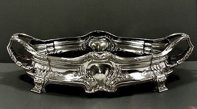 """French Sterling Center Bowl        """"JARDINIERE""""   c1880    SIGNED    """" 84 OZ. """""""