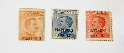 Scott 30, 31, and 32  3 mint Italy for use in the Turkish Empire value $19.00