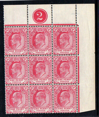 Cape Of Good Hope 1902 - Plate Control - Sg71 - Block 9 Stamps - Mint Not Hinged