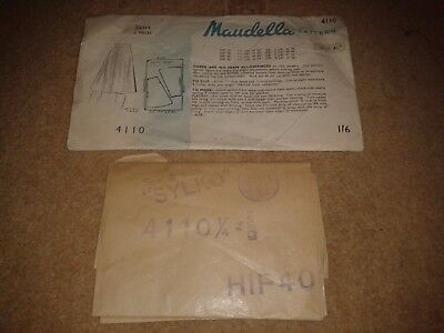ANTIQUE MAUDELLA SEWING PATTERN 1930's/1940's No.4110