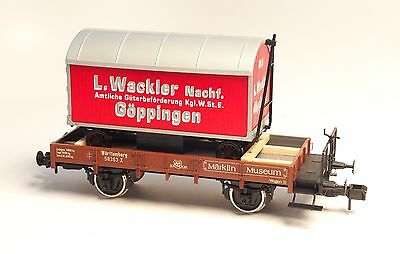 58363 Märklin Scale 1  Museums car 1998 with a Era 1 wagon for building material