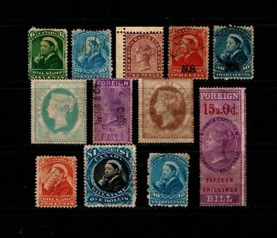 British  Colonial  Qv  Mint  And  Used  Fiscal  Collection.    Com Fis