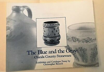 White Utica Stoneware Book The Blue And The Gray Many Illustrations