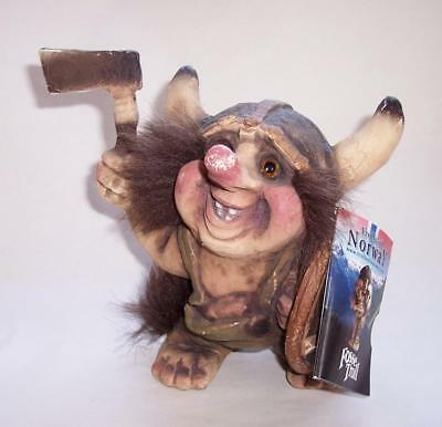 "Vintage NORWEGIAN Ny Form FOSSE TROLL 'Viking Warrior' Norway - 6.25"" High"