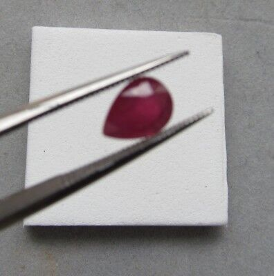 Precious Stone Beads Ruby Teardrop Loose Stone 1.6 ct Tear drop 6x8mm