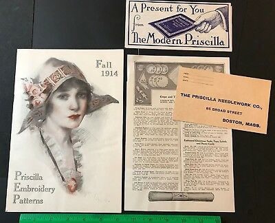 Priscilla Embroidery Patters Magazine Catalog Fall 1914 Sewing Woman's Underwear