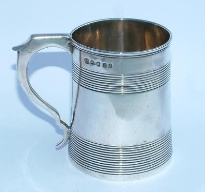 George Iii Antique Silver Cup Mug Tankard Hallmarked 1800 Hennell I & Hennell Ii