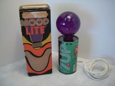 Vintage 1970's 7-Up Flicker Lamp - Mood Lite~Very Nice Working Condition W/ Box!