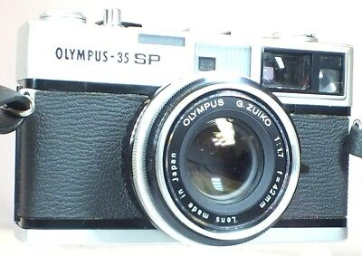 OLYMPUS-35 SP Rangefinder Camera With G.Zuiko 42mm f/1.7 Lens - I01