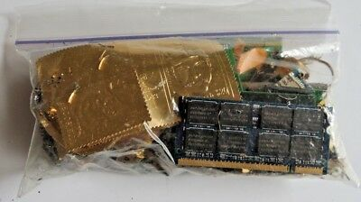 5.8 Oz of Scrap Gold Plate & GF - jewelry-computer pins board chips-other