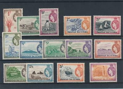 [5336] Tristan Cunha 1953 good set very fine MNH stamps value +++$200