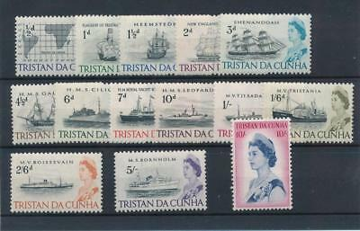 [5342] Tristan Cunha 1965 boats good set very fine MNH stamps value $45