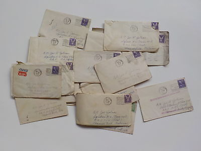 23 WWII Letters 43rd Bomb Group Maxwell Field Alabama WW2 South Bend Indiana