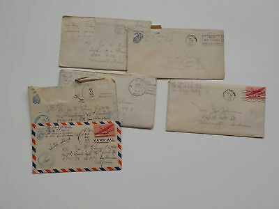 6 WWII Letters Marine 9th Marines USMC World War Two WW II Lot VTG Old Paper WW2