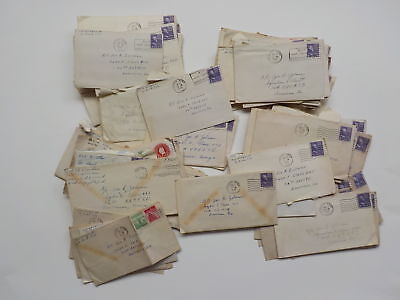 70 WWII Letters 43rd Bomb Group Americus Georgia WW2 South Bend Indiana Lot IN